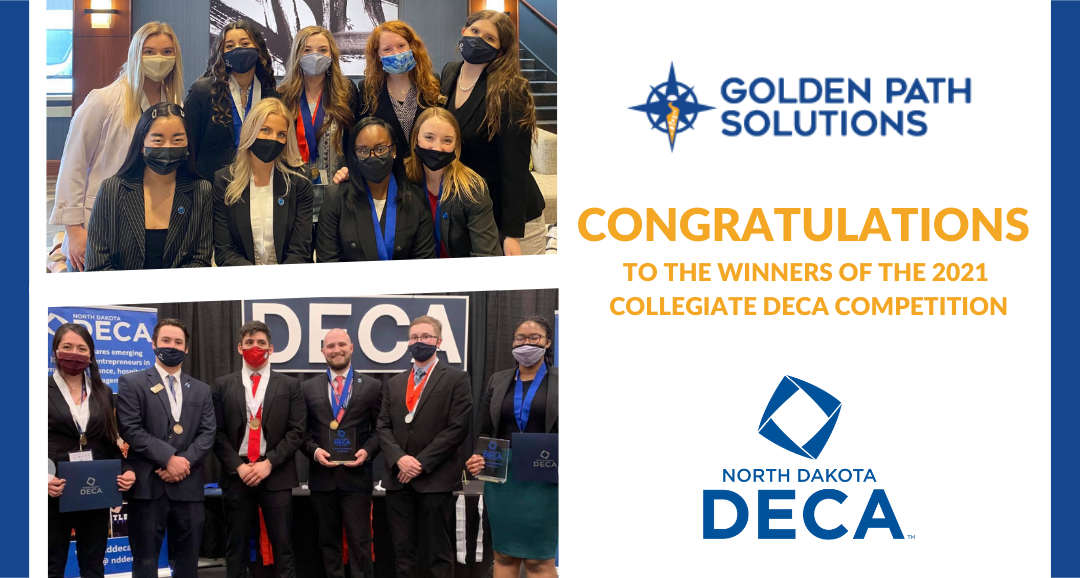 And the winner is……. Golden Path Solutions Participates as a Judge in the North Dakota DECA Collegiate Competition